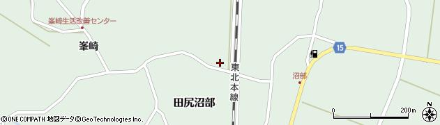 宮城県大崎市田尻沼部(下屋敷)周辺の地図