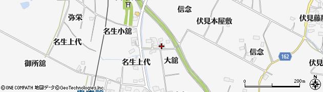 宮城県大崎市古川大崎(大舘)周辺の地図