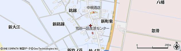 宮城県大崎市古川荒谷(銘釼)周辺の地図