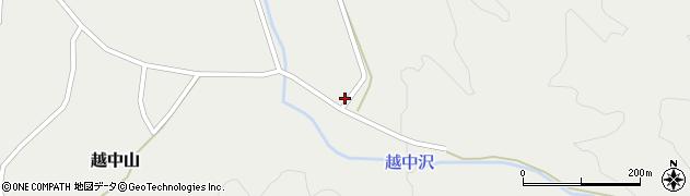 山形県鶴岡市越中山(村田)周辺の地図