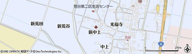 宮城県大崎市古川荒谷(新中上)周辺の地図