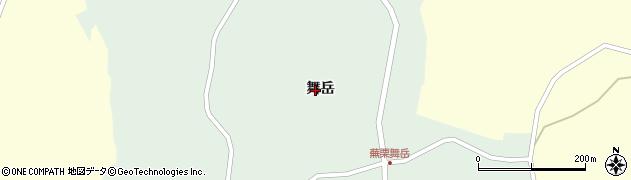 宮城県大崎市田尻蕪栗(舞岳)周辺の地図