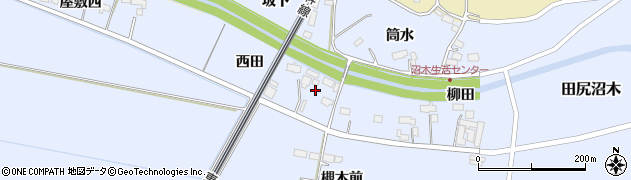 宮城県大崎市田尻沼木(西田)周辺の地図