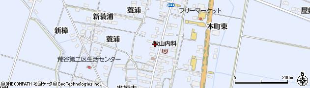 宮城県大崎市古川荒谷(本町)周辺の地図
