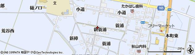 宮城県大崎市古川荒谷(新蓑浦)周辺の地図