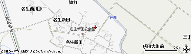 宮城県大崎市古川大崎(名生北川原)周辺の地図