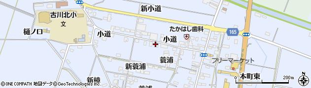 宮城県大崎市古川荒谷(小道)周辺の地図