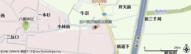 宮城県大崎市古川小林(新一本杉)周辺の地図