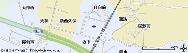 宮城県大崎市田尻沼木(新日向前)周辺の地図
