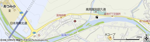 山形県鶴岡市湯温海(湯之尻)周辺の地図