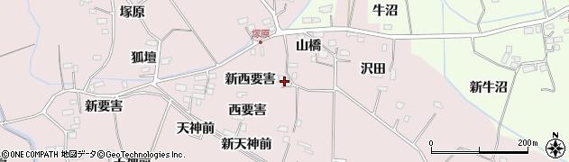 宮城県大崎市古川小林(新西要害)周辺の地図