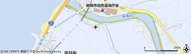 山形県鶴岡市温海(片淵)周辺の地図