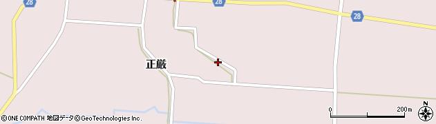 山形県尾花沢市正厳199周辺の地図
