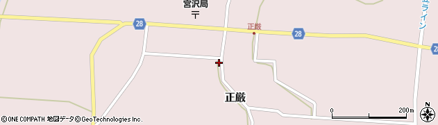 山形県尾花沢市正厳478周辺の地図