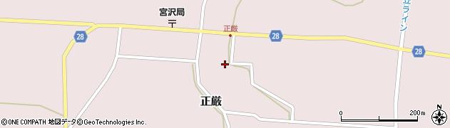 山形県尾花沢市正厳212周辺の地図