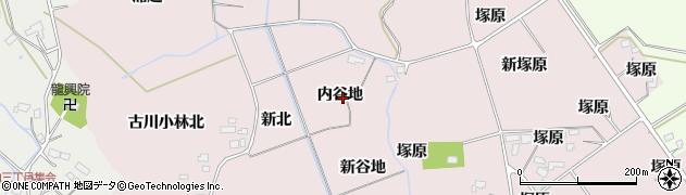 宮城県大崎市古川小林(内谷地)周辺の地図