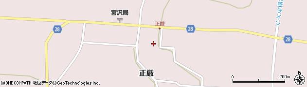 山形県尾花沢市正厳486周辺の地図