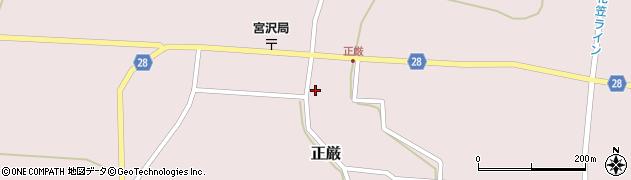 山形県尾花沢市正厳488周辺の地図