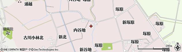 宮城県大崎市古川小林(新谷地)周辺の地図