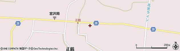 山形県尾花沢市正厳503周辺の地図