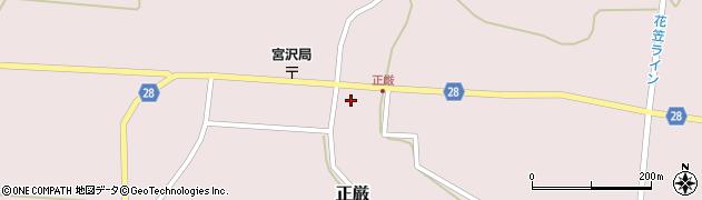山形県尾花沢市正厳492周辺の地図