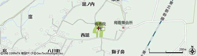 梅香院周辺の地図