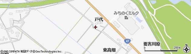 宮城県大崎市岩出山下野目(戸代)周辺の地図