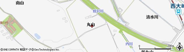 宮城県大崎市岩出山下野目(丸山)周辺の地図