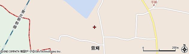 宮城県栗原市高清水千神周辺の地図