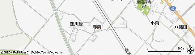 宮城県大崎市岩出山下野目(寺前)周辺の地図