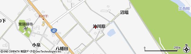 宮城県大崎市岩出山下野目(沖川原)周辺の地図