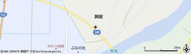 山形県鶴岡市西片屋(興屋)周辺の地図