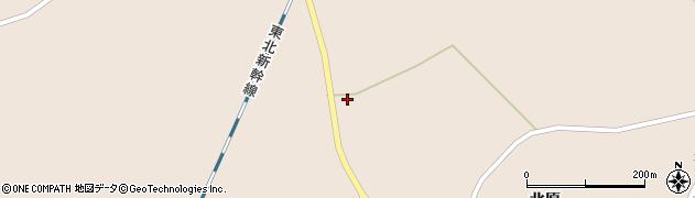 宮城県栗原市高清水北原周辺の地図