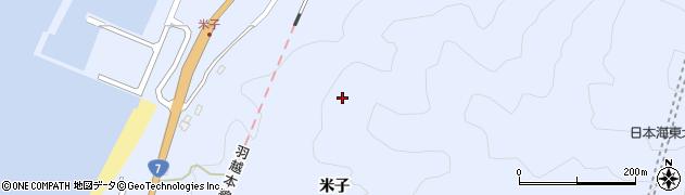 山形県鶴岡市温海米子周辺の地図