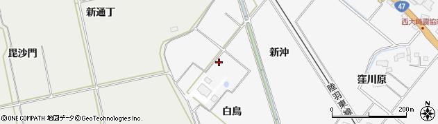 宮城県大崎市岩出山下野目(白鳥)周辺の地図