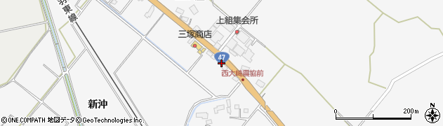 宮城県大崎市岩出山下野目(堂ノ口)周辺の地図