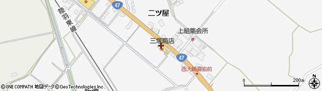 宮城県大崎市岩出山下野目(新雨沼)周辺の地図
