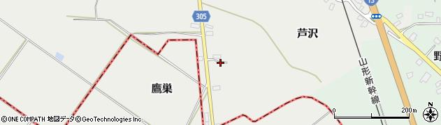 山形県尾花沢市芦沢993周辺の地図