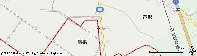 山形県尾花沢市芦沢201周辺の地図