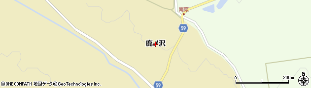 宮城県大崎市古川雨生沢(鹿ノ沢)周辺の地図