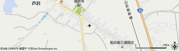 山形県尾花沢市芦沢107周辺の地図