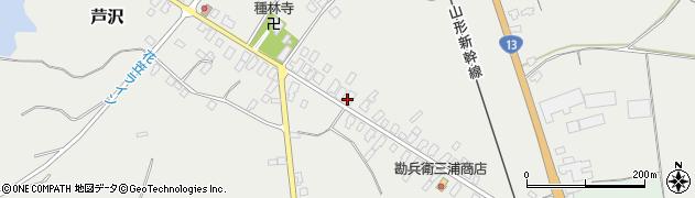 山形県尾花沢市芦沢93周辺の地図