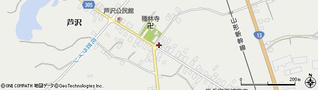 山形県尾花沢市芦沢128周辺の地図
