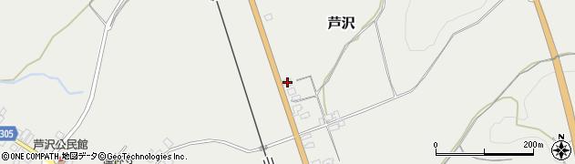 山形県尾花沢市芦沢1128周辺の地図