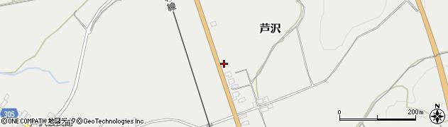 山形県尾花沢市芦沢1127周辺の地図