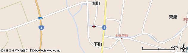 宮城県栗原市高清水小山下周辺の地図