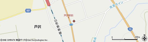 山形県尾花沢市芦沢周辺の地図