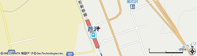 山形県尾花沢市芦沢1207周辺の地図