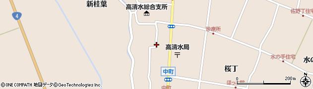 宮城県栗原市高清水中町周辺の地図