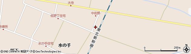 宮城県栗原市高清水太子堂周辺の地図